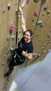 Nicole climbing