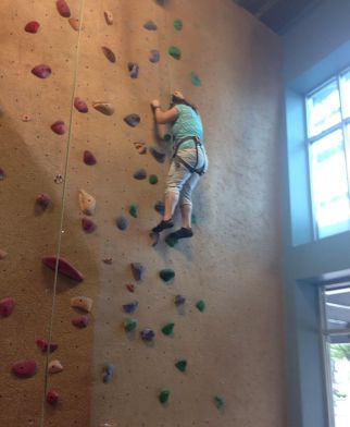 First week climbing - so scared!
